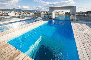 京都府の屋上プール施工例