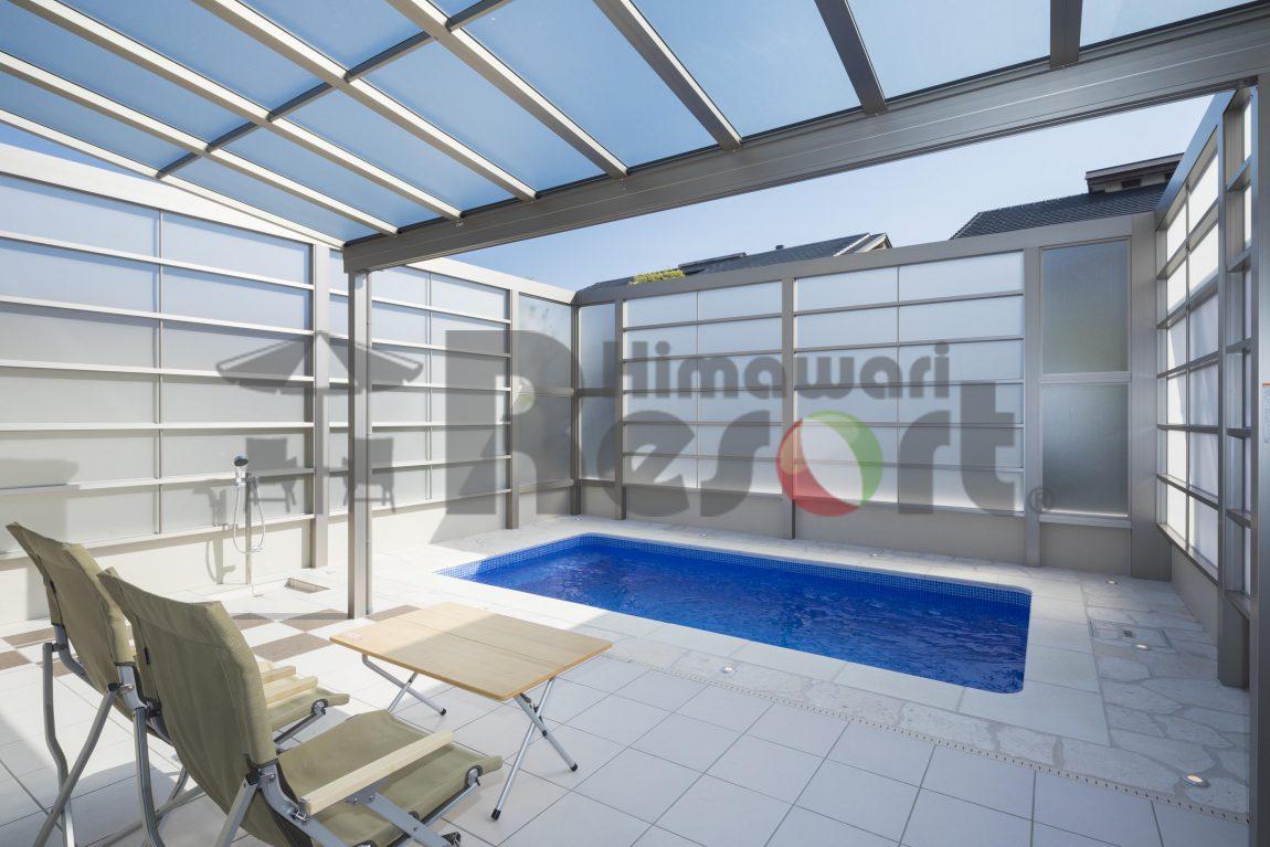 兵庫県芦屋市に施工した自宅のプール